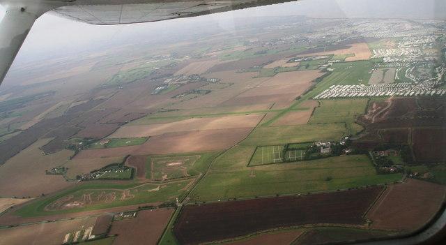 Skegness Aerodrome and Water Leisure Park: aerial 2013