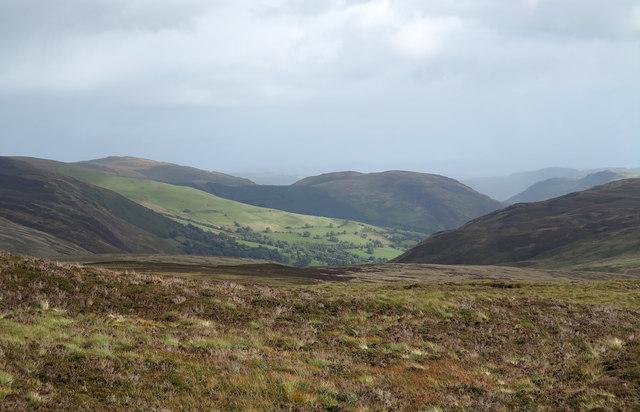 Moorland south of Foel Cwm-Sian Llwyd