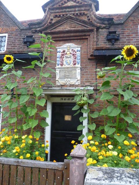 The entrance to the Smyth Almshouses, Bridge Road