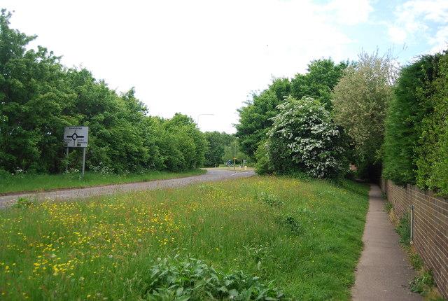 Near the end of Church Lane