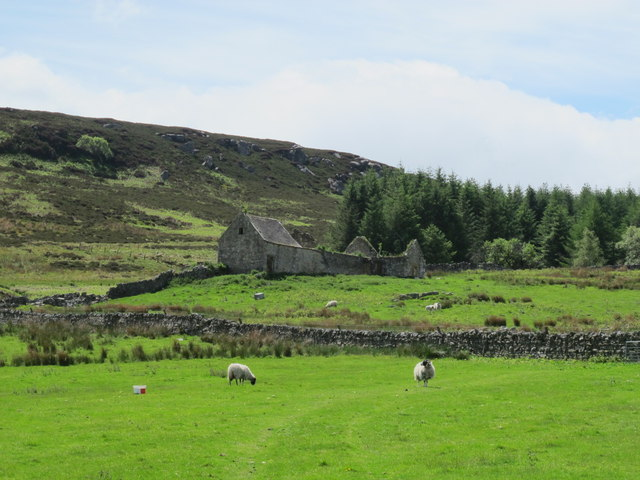 Pastures, moorland and woodland around South Yardhope