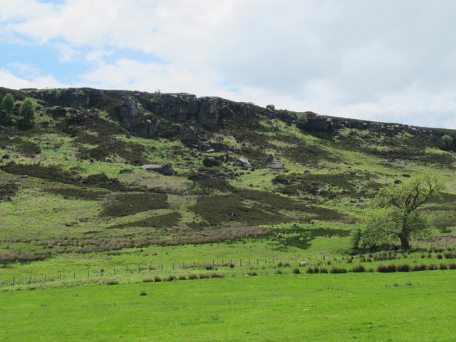 Crags above South Yardhope