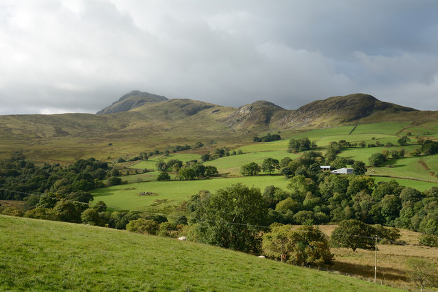 Fields above valley of Afon Twrch