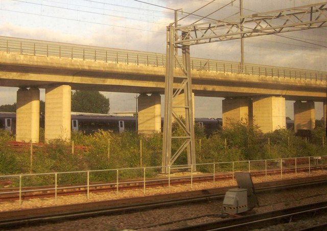 Railway lines at Ashford International