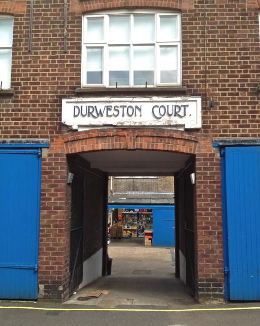 Durweston Court entrance, Durweston Street, Marylebone