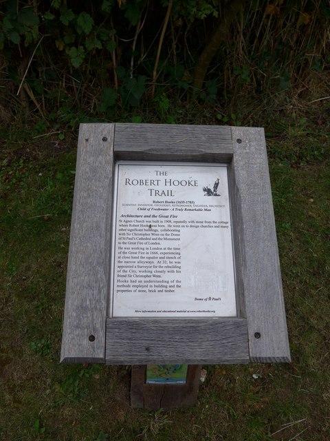 Information board in Gate Lane