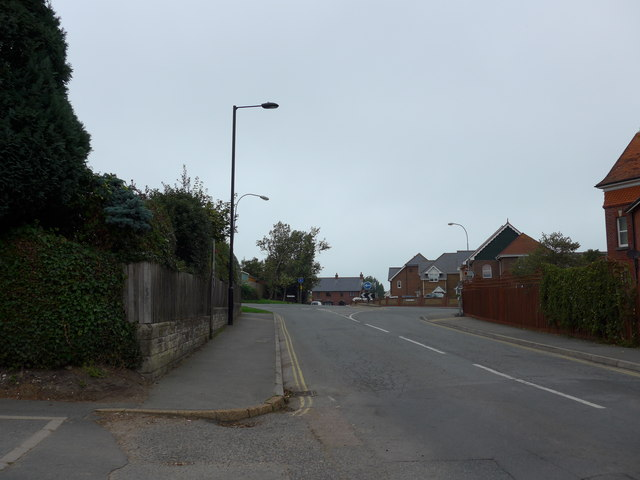 Looking from the junction of Uplands Road and The Avenue towards a roundabout