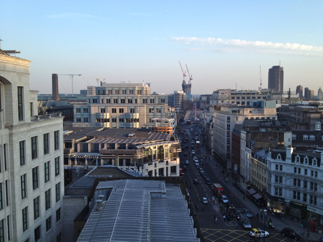 The view south from 5 Fleet Place, City of London