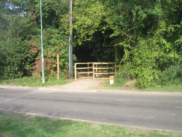Start of the cycle path