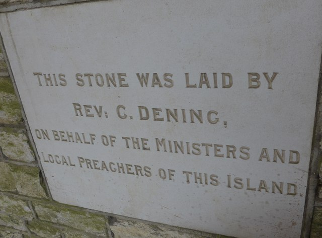 Commemoration stone, Totland Methodist Church (3)