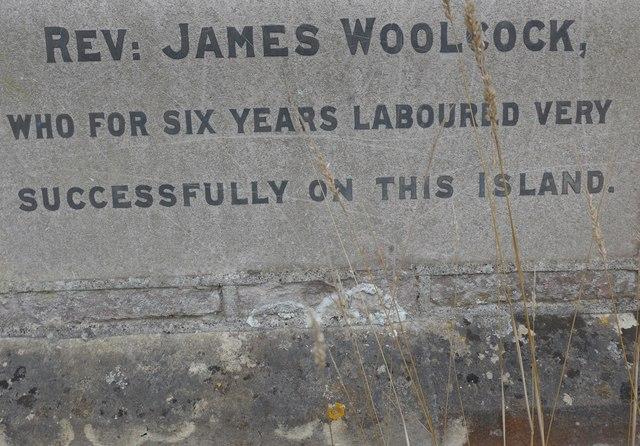 Commemoration stone, Totland Methodist Church (4b)