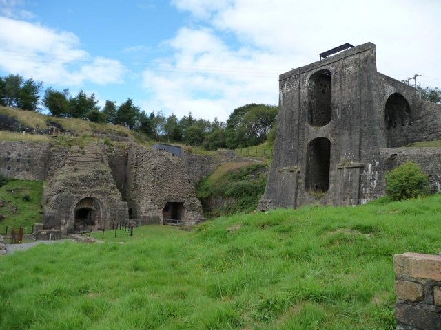 Balance tower and furnaces, Blaenavon Ironworks