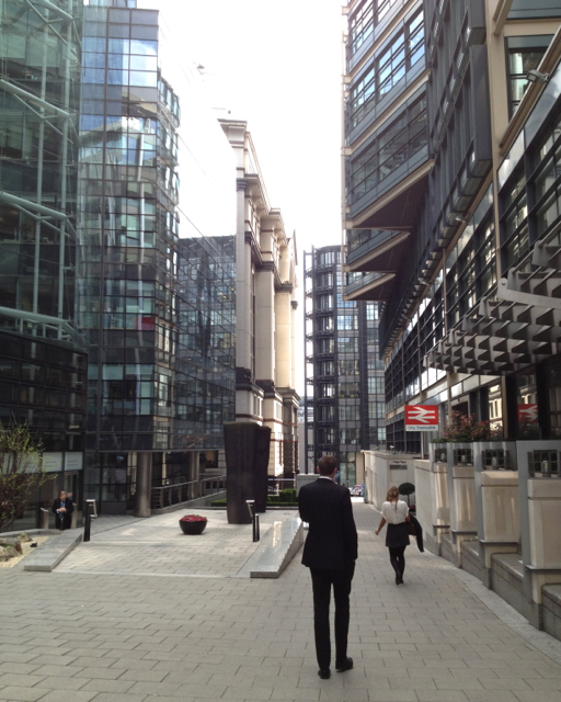 South on Fleet Place, City of London