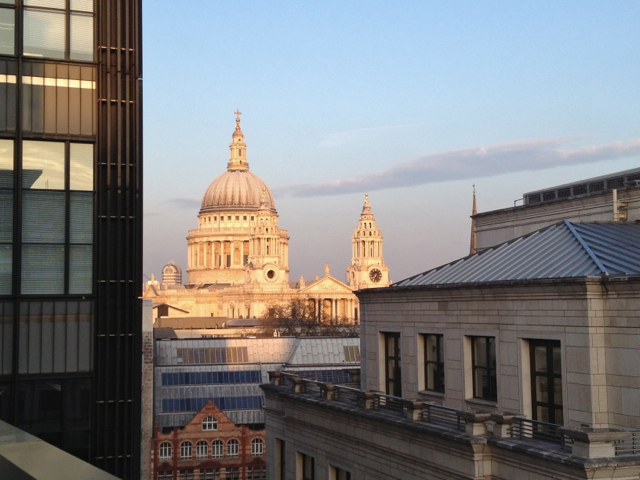 View of St Paul's Cathedral from 5 Fleet Place, City of London