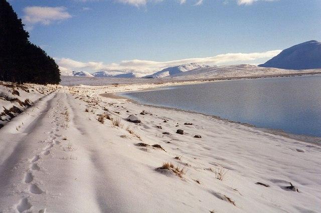 Deep snow by Loch Pattack