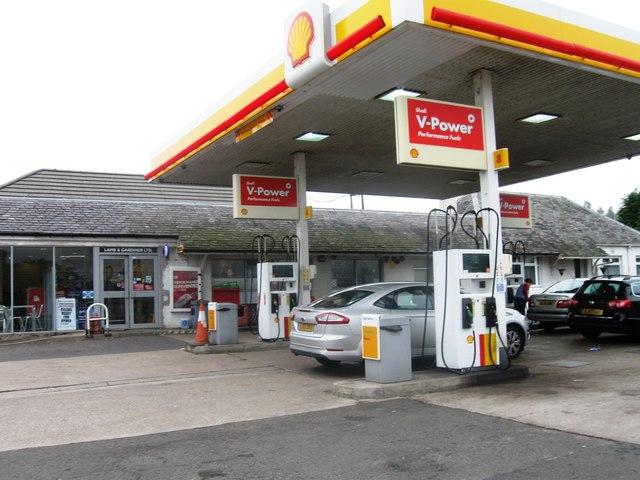 Shell garage loaninghead alex mcgregor geograph britain and ireland - Find nearest shell garage ...