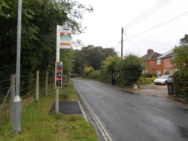Station road from station steps