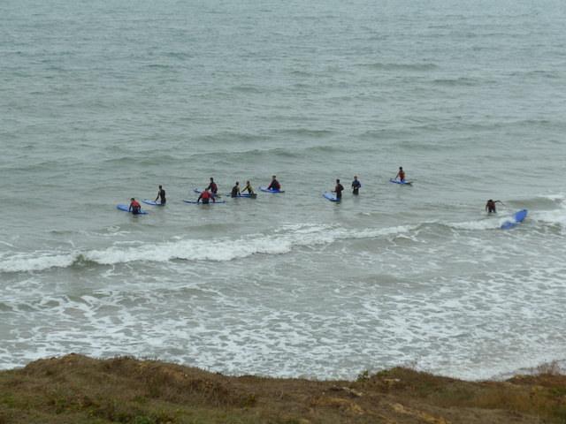 Fun in the surf at Shippards Chine