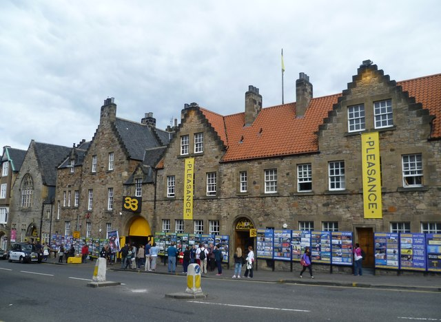 The Pleasance during the Festival