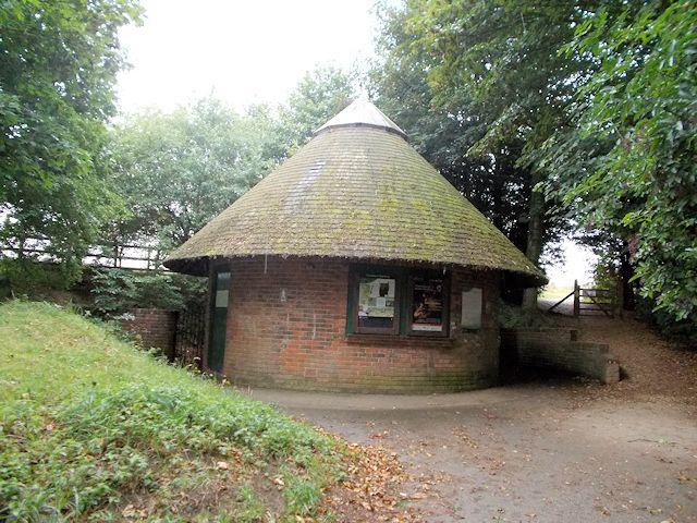 Public toilet block at Danebury Rings