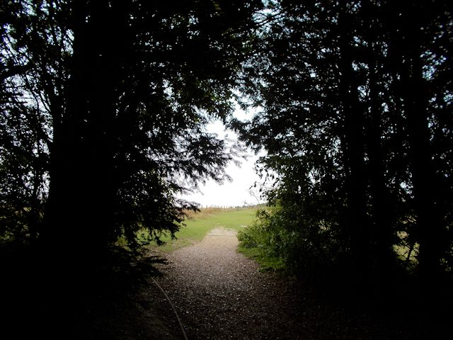 Footpath from car park to Danebury Rings