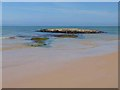 C5449 : Tidal rock off Culdaff beach by Oliver Dixon