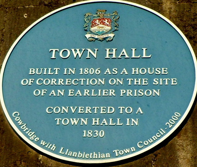 Town Hall blue plaque, Cowbridge