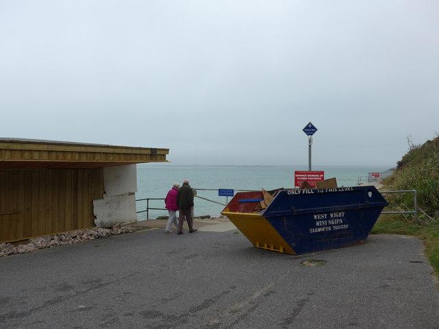 Skip near the pier