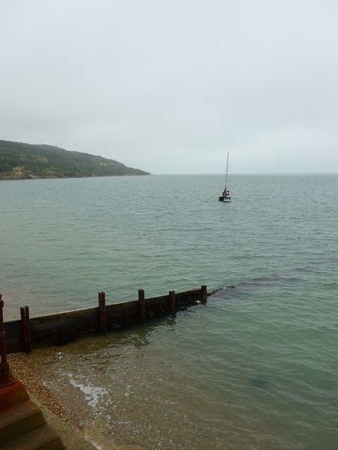 Looking from Totland Promenade towards Hatherland Point