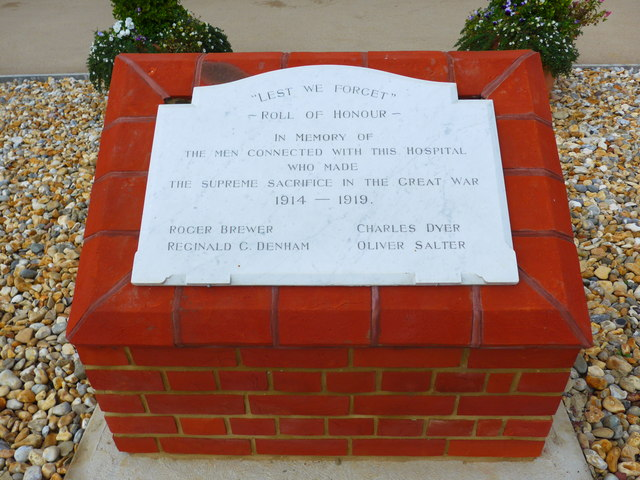 Whitecroft Hospital: war memorial