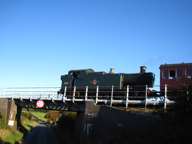 Steam train crossing the A149
