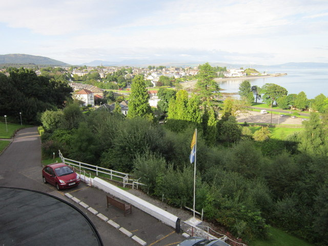 Dunoon from the Glenmorag Hotel