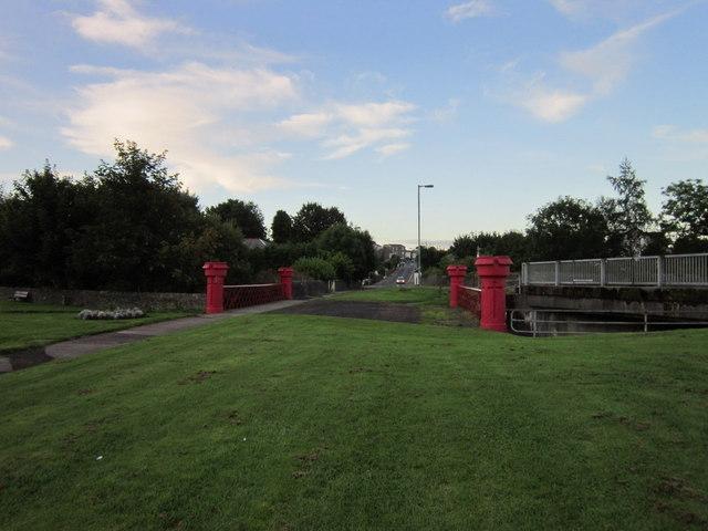 The former road bridge, Wellington Street, Dunoon