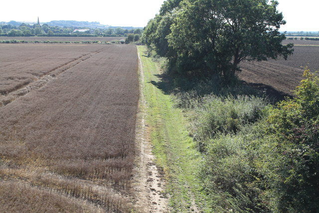 Disused Lincoln to Grantham railway track