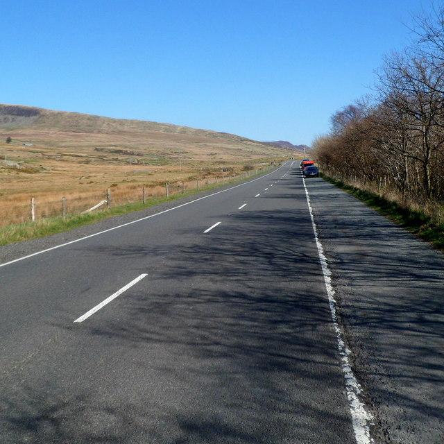 A5 parking area east of Llyn Ogwen in Snowdonia