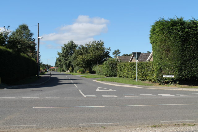 Looking down East Road from High Dike, Navenby