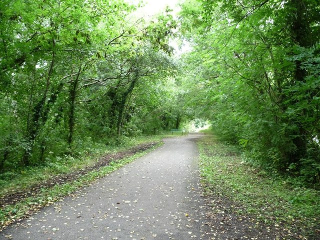 Cycleway on former railway line, Griffithstown