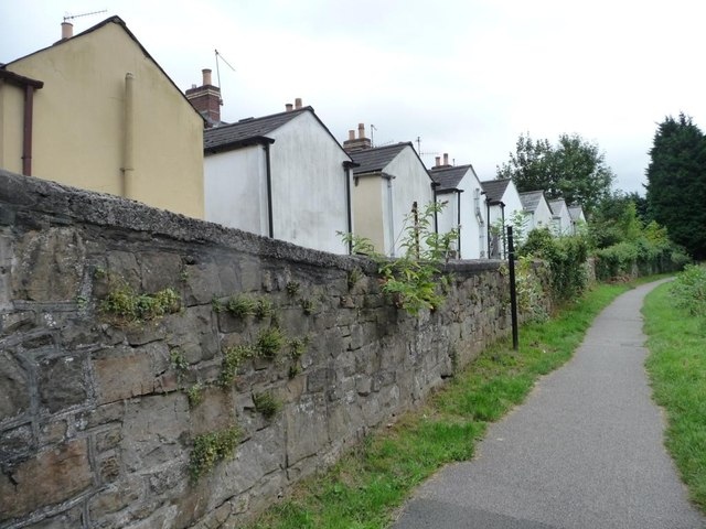 Gable ends of houses in Station Road, Griffithstown