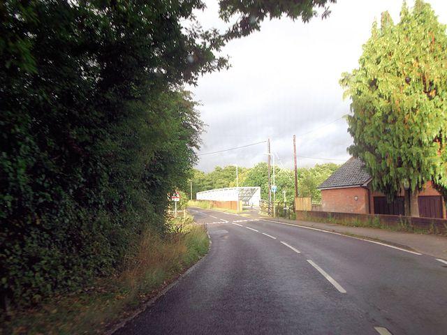 Railway bridge on Flexford Road