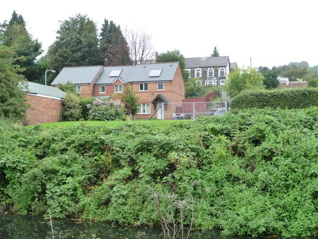 Contrasts in terraced housing, Griffithstown