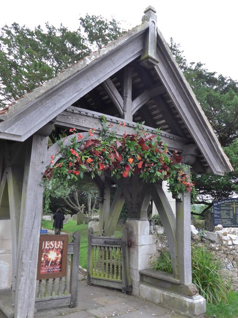 All Saints, Freshwater: lych gate