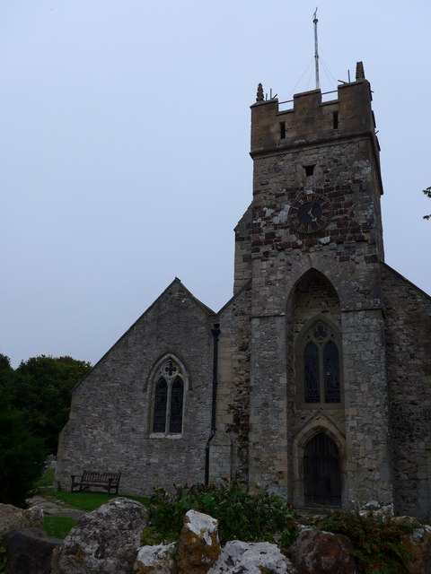All Saints, Freshwater: tower