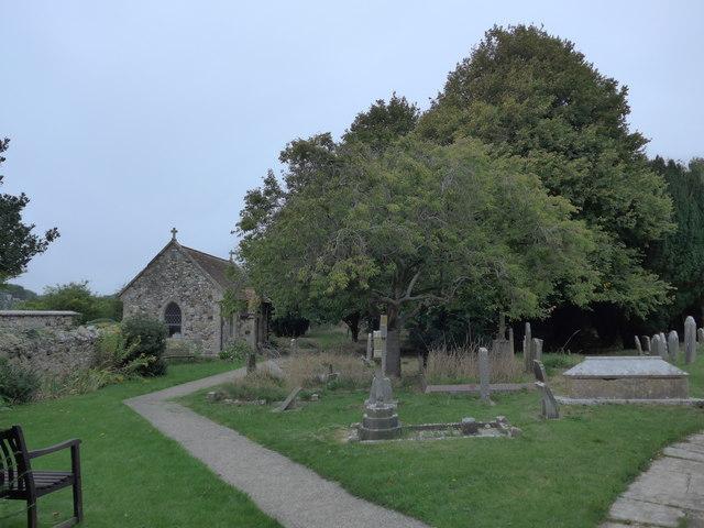 All Saints, Freshwater: churchyard (1)