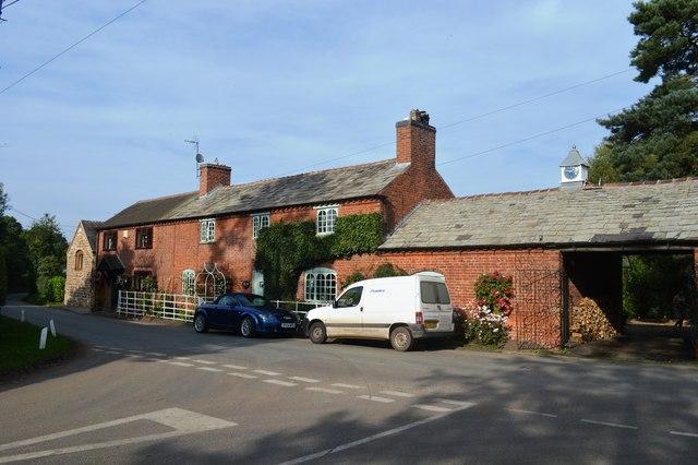Cottage at Levedale Lane end