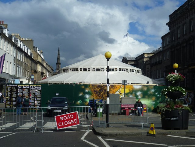 George Street closed during the Festival