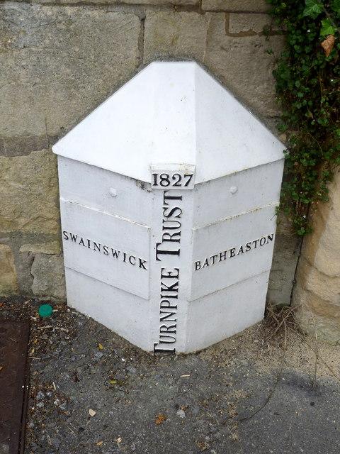 Turnpike Trust Toll marker, 1827