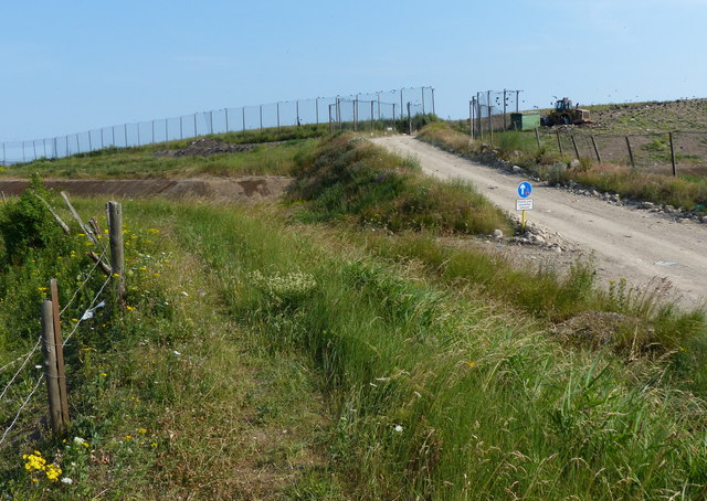 Track to the landfill site