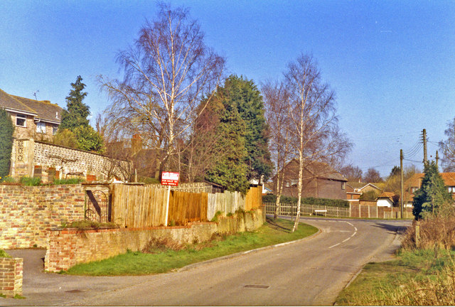 Henfield: site of former station, 1993