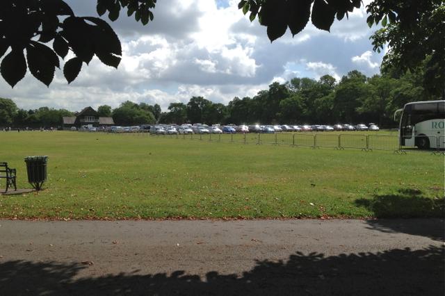 Temporary car parking, Victoria Park