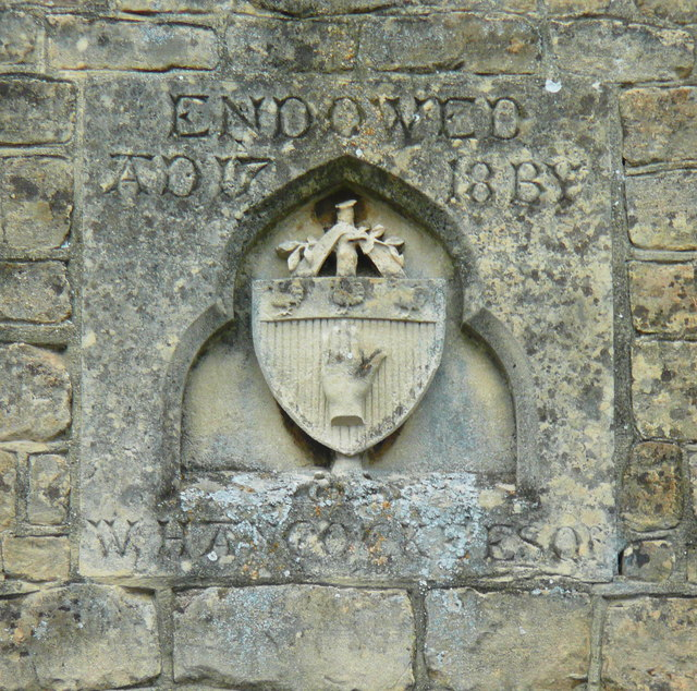 Datestone on the old school building, Bredon